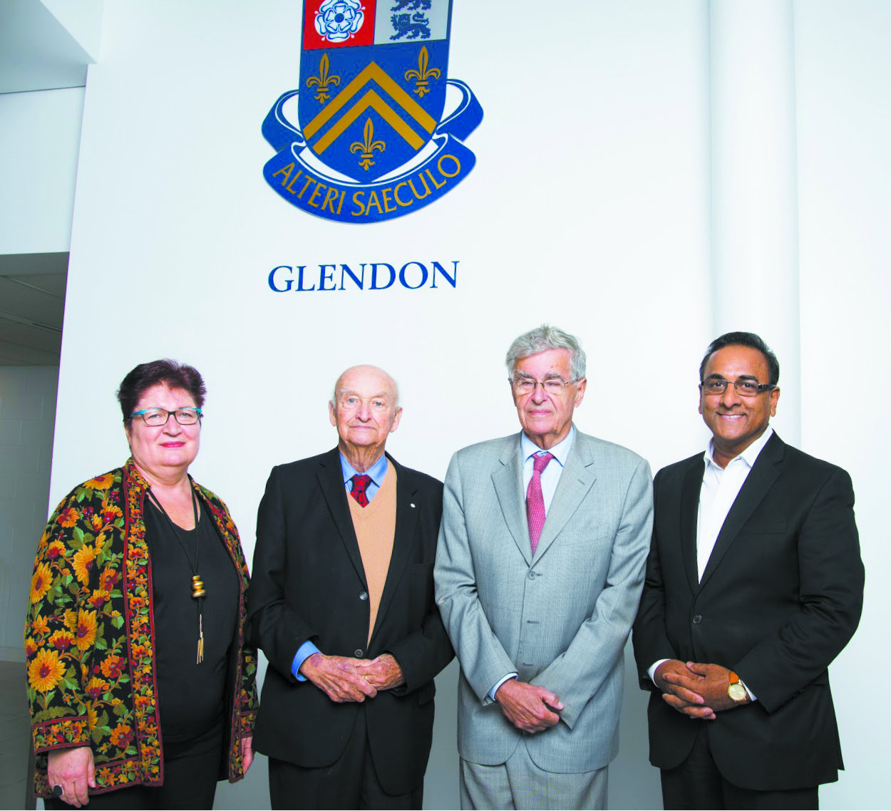Left to right:Annie Demirjian, Dr. Peter Russell, The Hon. Louis LeBel,Dr. Radha Persaud