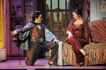 "Me as Aldolpho in ""The Drowsy Chaperone"" National Tour (USA/Canada)"