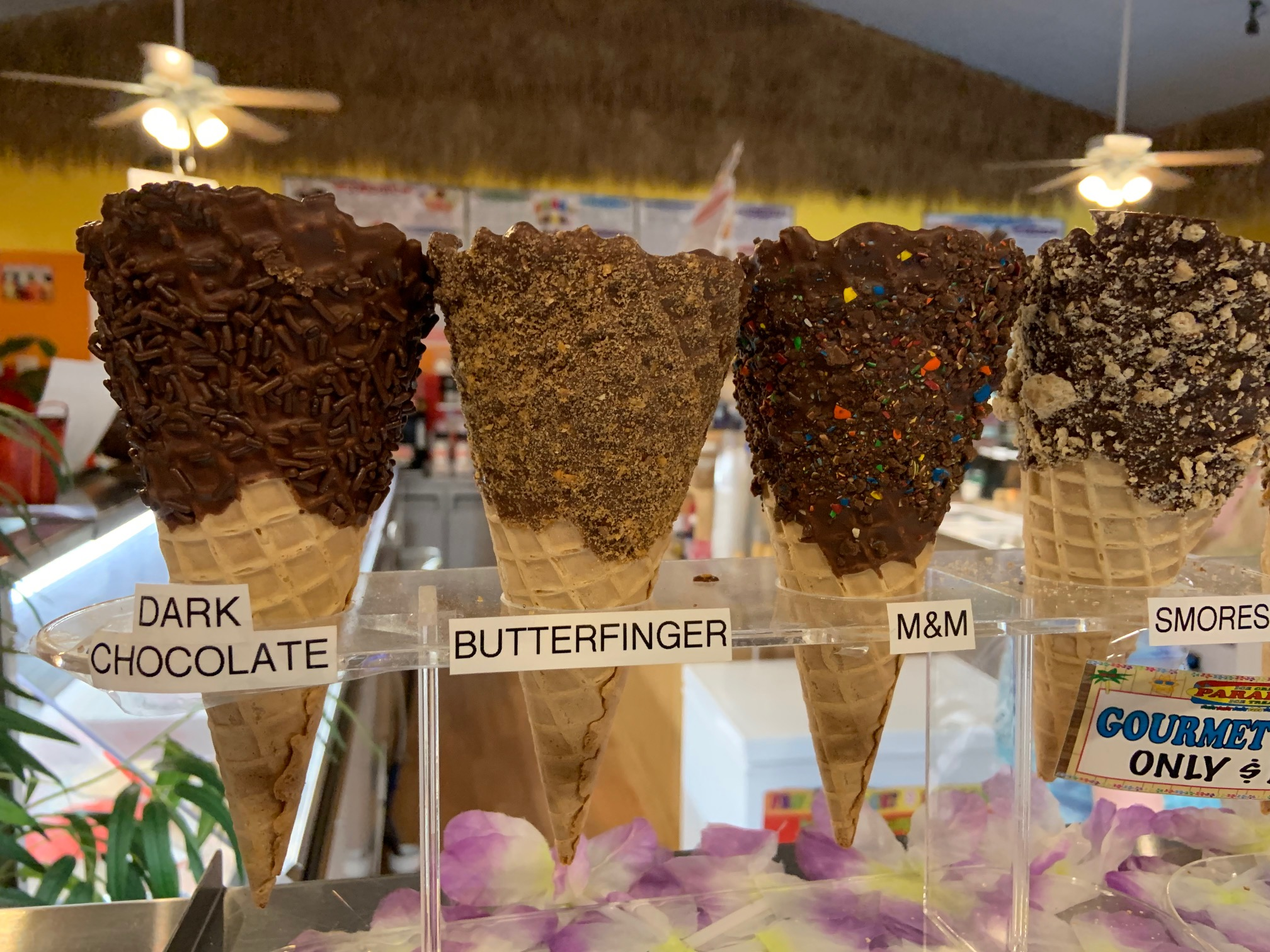 These were the reasonable gourmet cones!