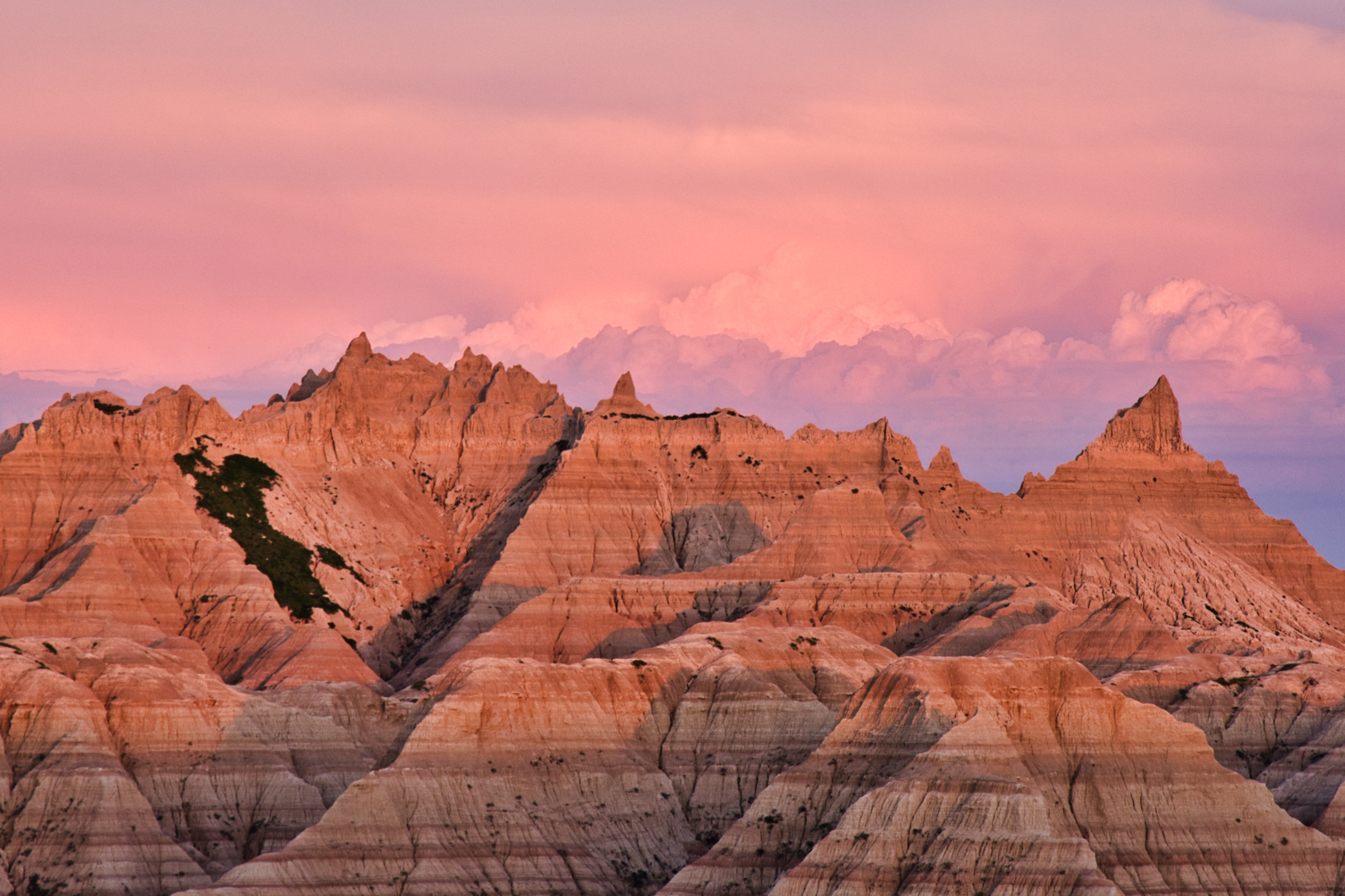 """Part of the """"Wall"""" in the Badlands."""