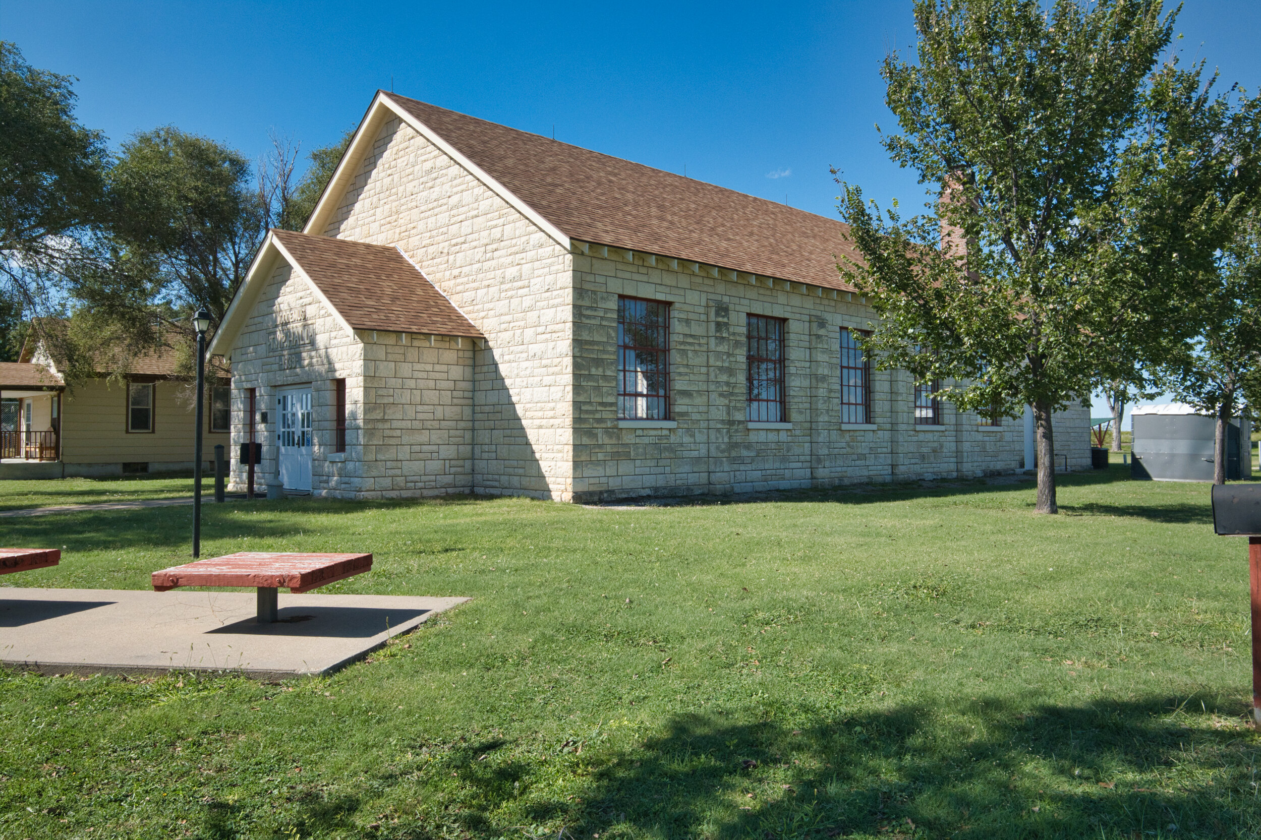 This is the current VC but was built by the community in the 30's for their gatherings. Beautiful work.