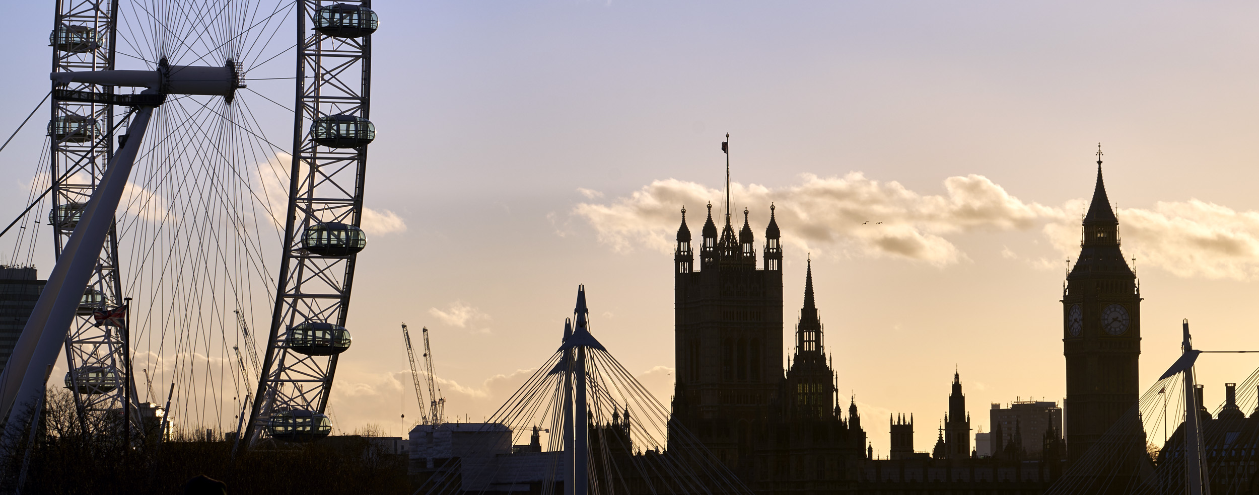 Westminster with London Eye