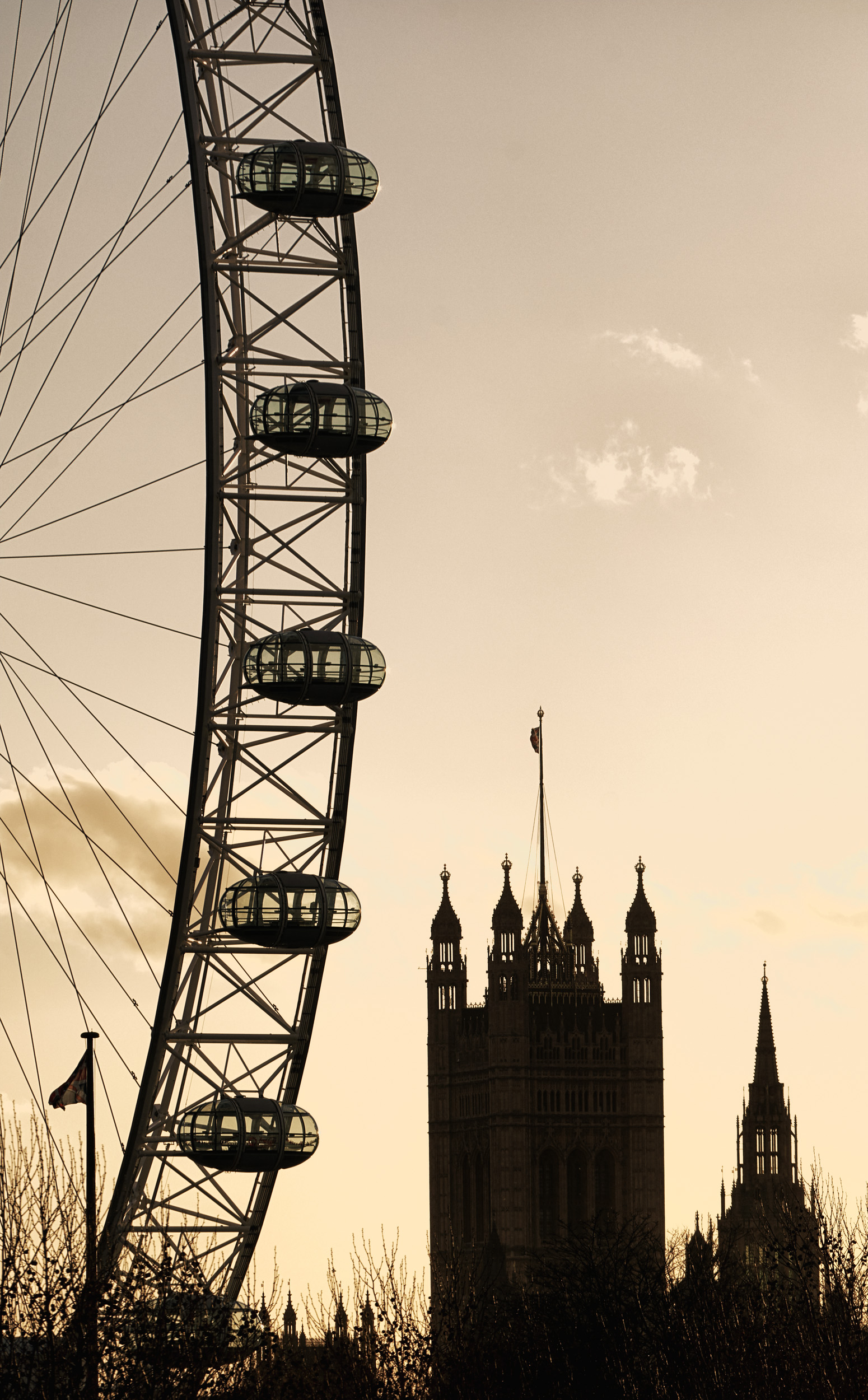 Westminster with London Eye # 2