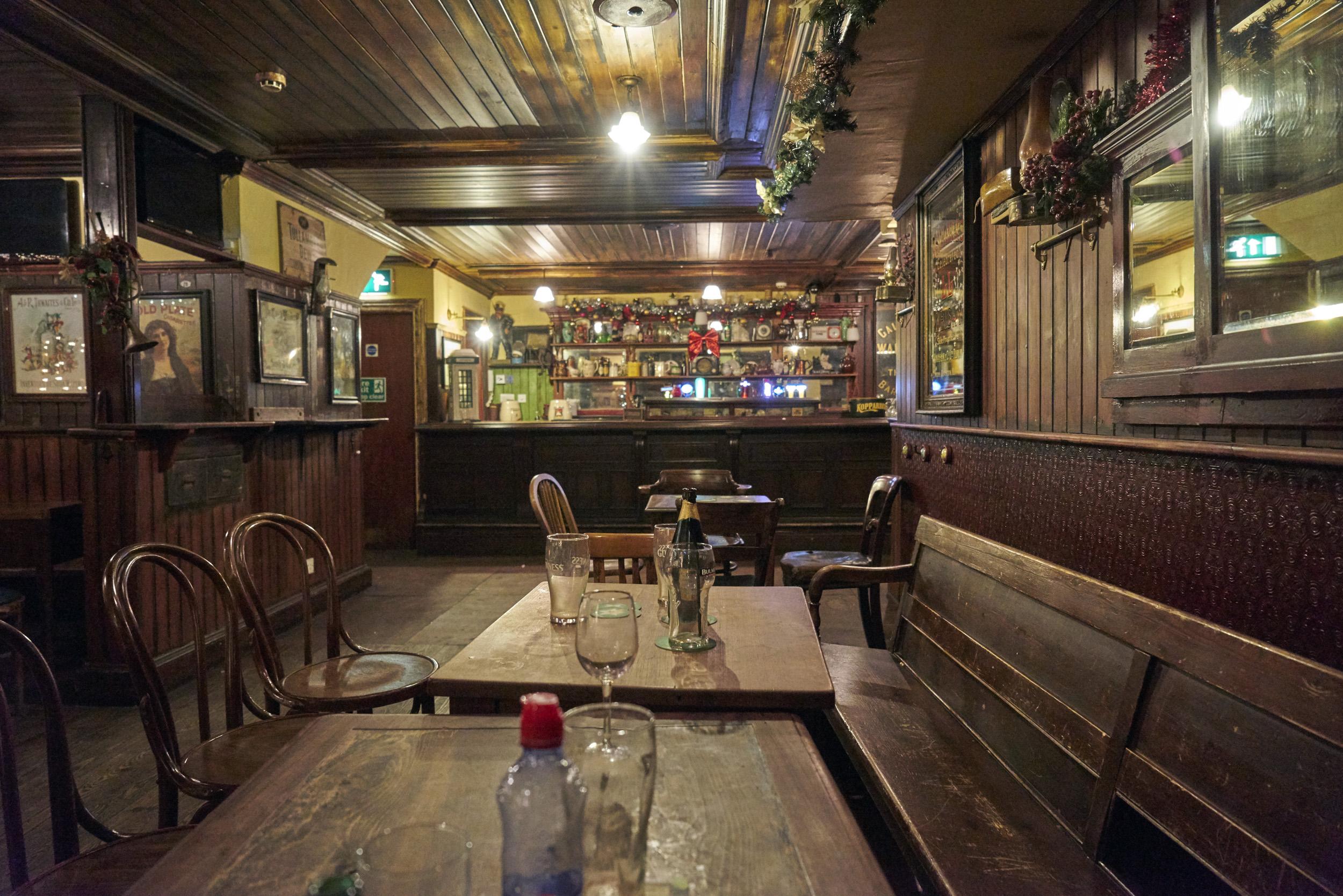 Empty Pub, very rare….but sad!