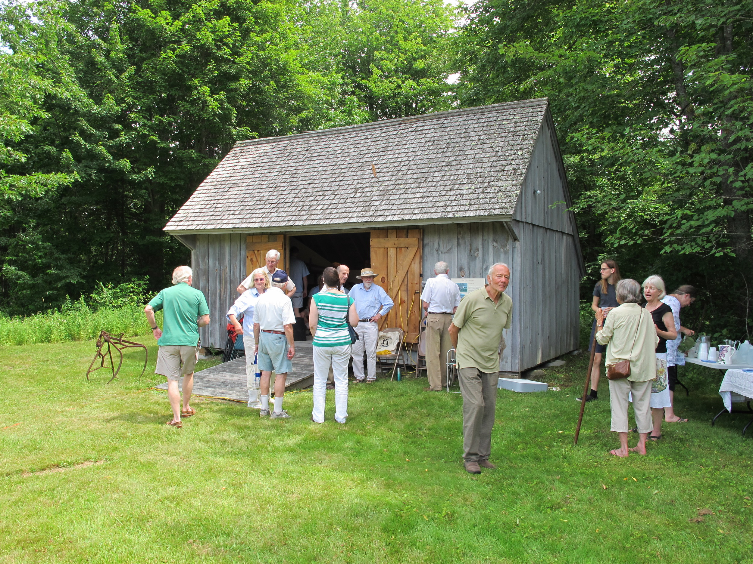The event took place in and around a small barn donated by the Slaven family.