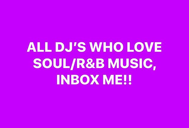 If you are a DJ or know DJs who love soul music inbox me!!! I have a gift for you!!!!!#loveisthekey #musiclovers #dj #spreadmusic