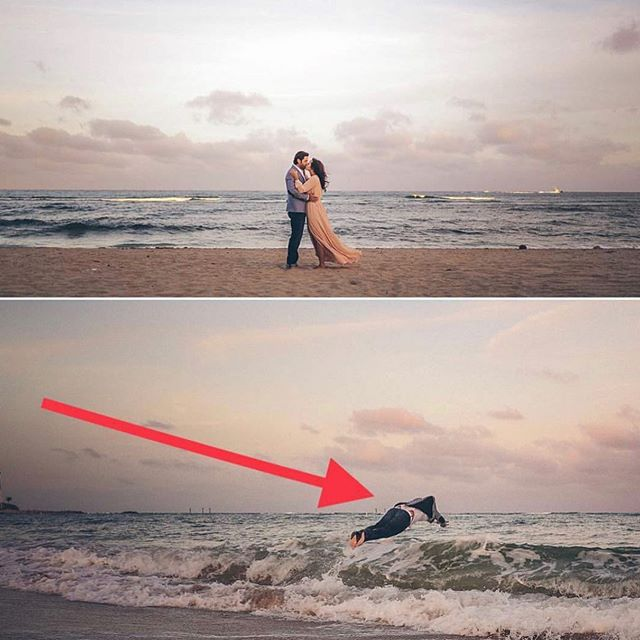 When the groom-to-be can't resist the power of my engagement session Double Dog Dare.
