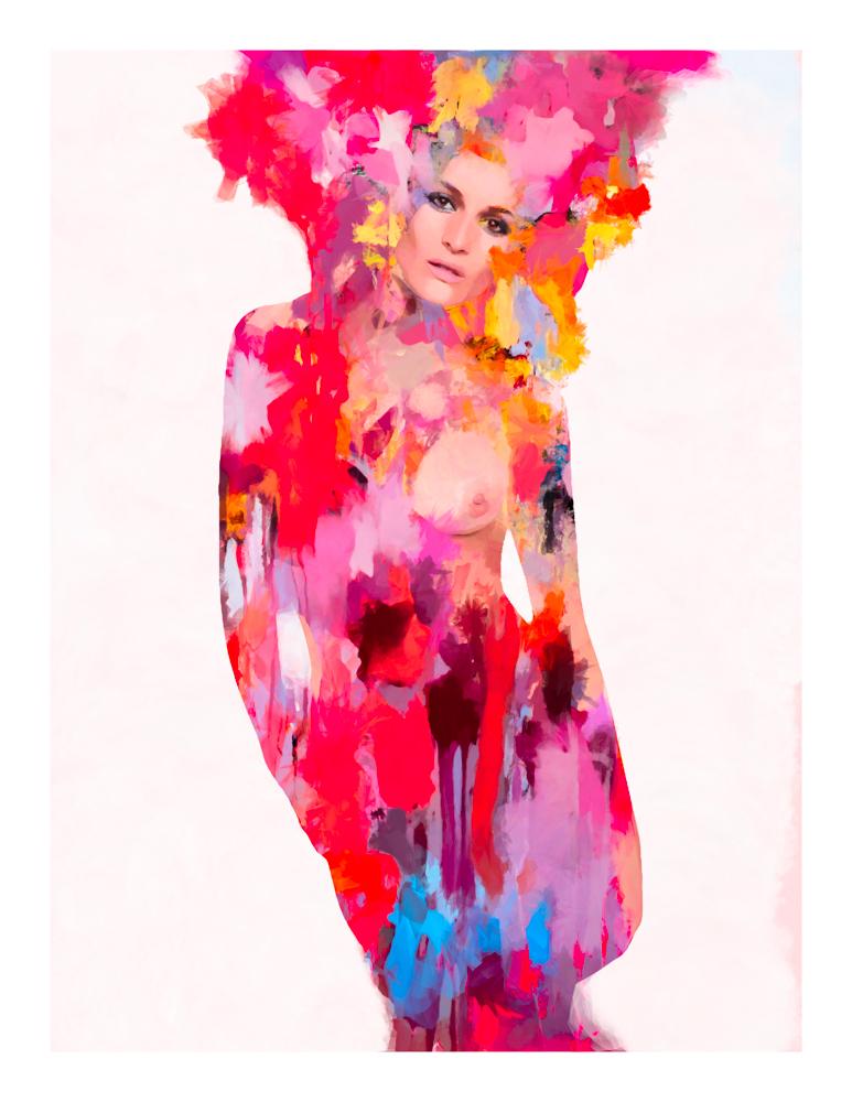 Claudia Román — Collaborative art by Sergio Albiac — Ramón Gellida
