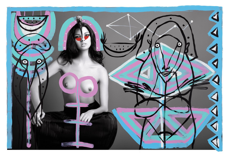 Livia Rangel — Collaborative art by Chu Huiini — Ramón Gellida