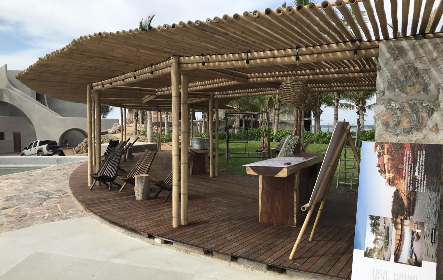 Pérgola de bambú