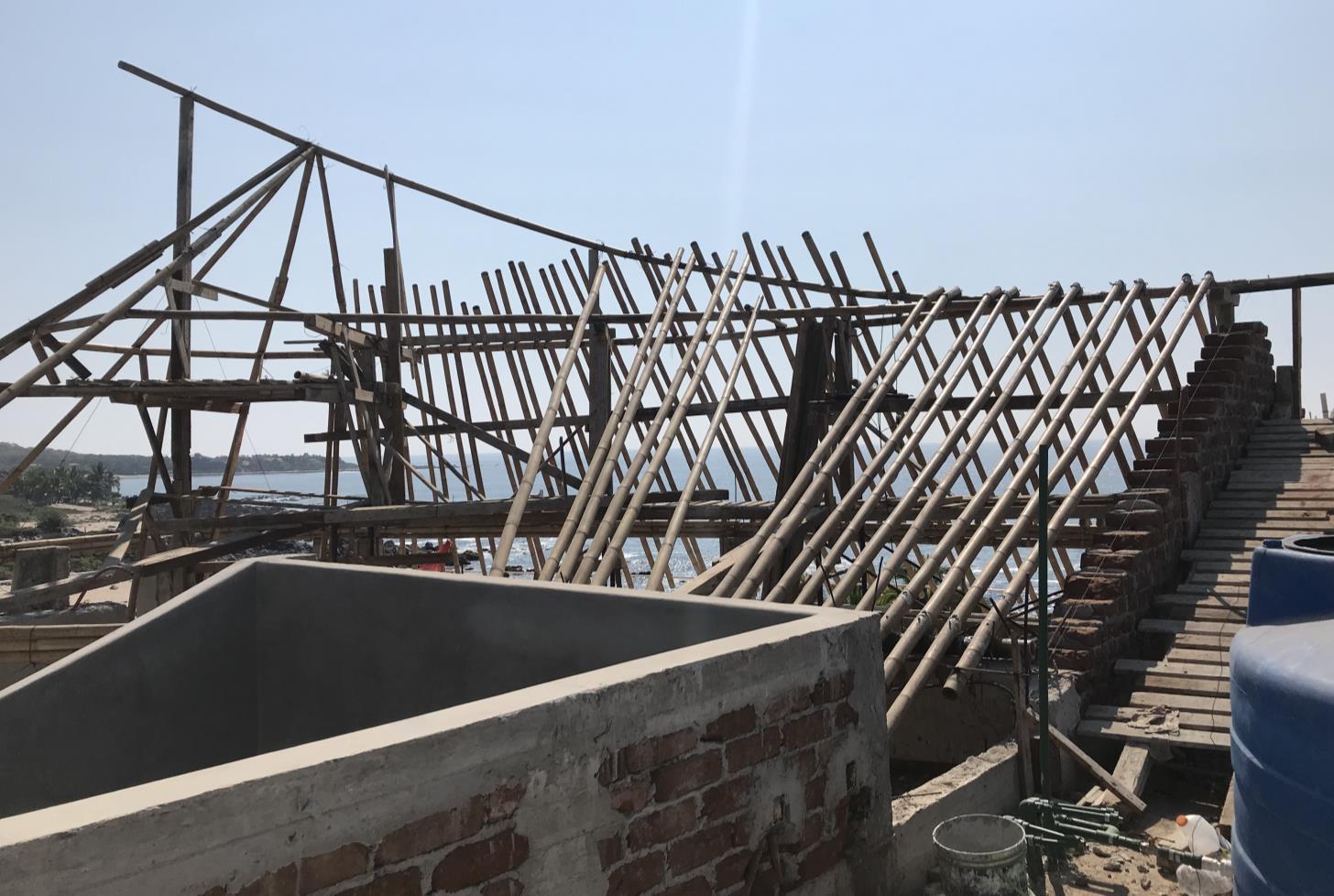 Fabricación Palapa de Bambú