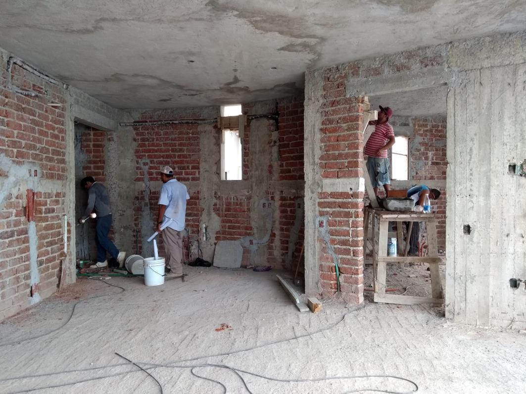 PREPARING INSTALLATIONS IN KITCHEN,    CONCRETE FLATWORK IN CEILINGS