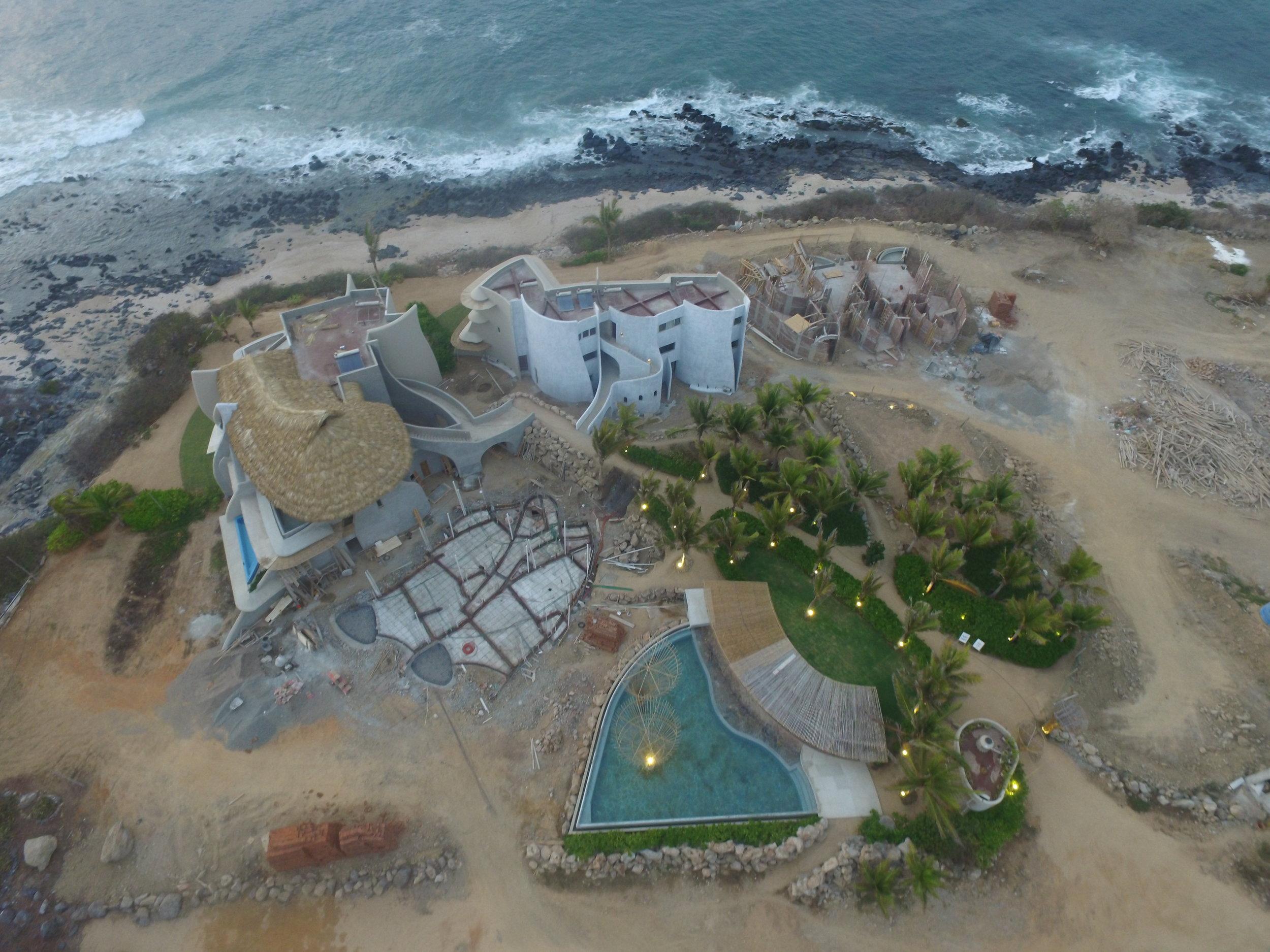 Punta Majahua from the sky