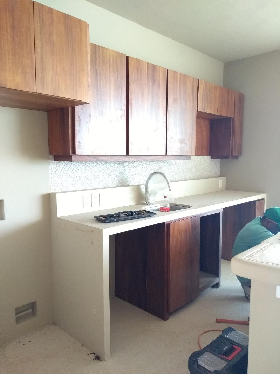 Carpentry finishes in Kitchen