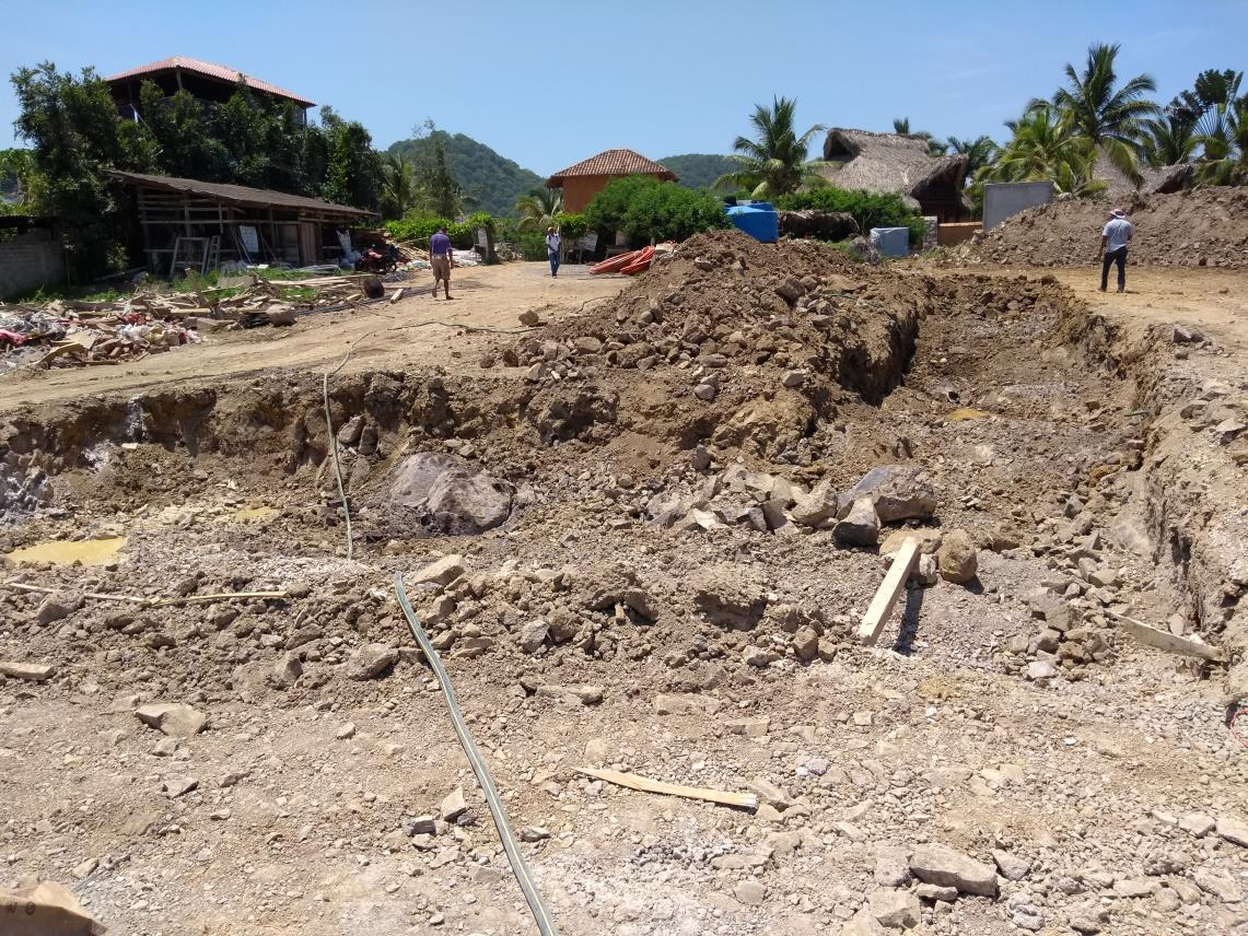Excavation for cistern
