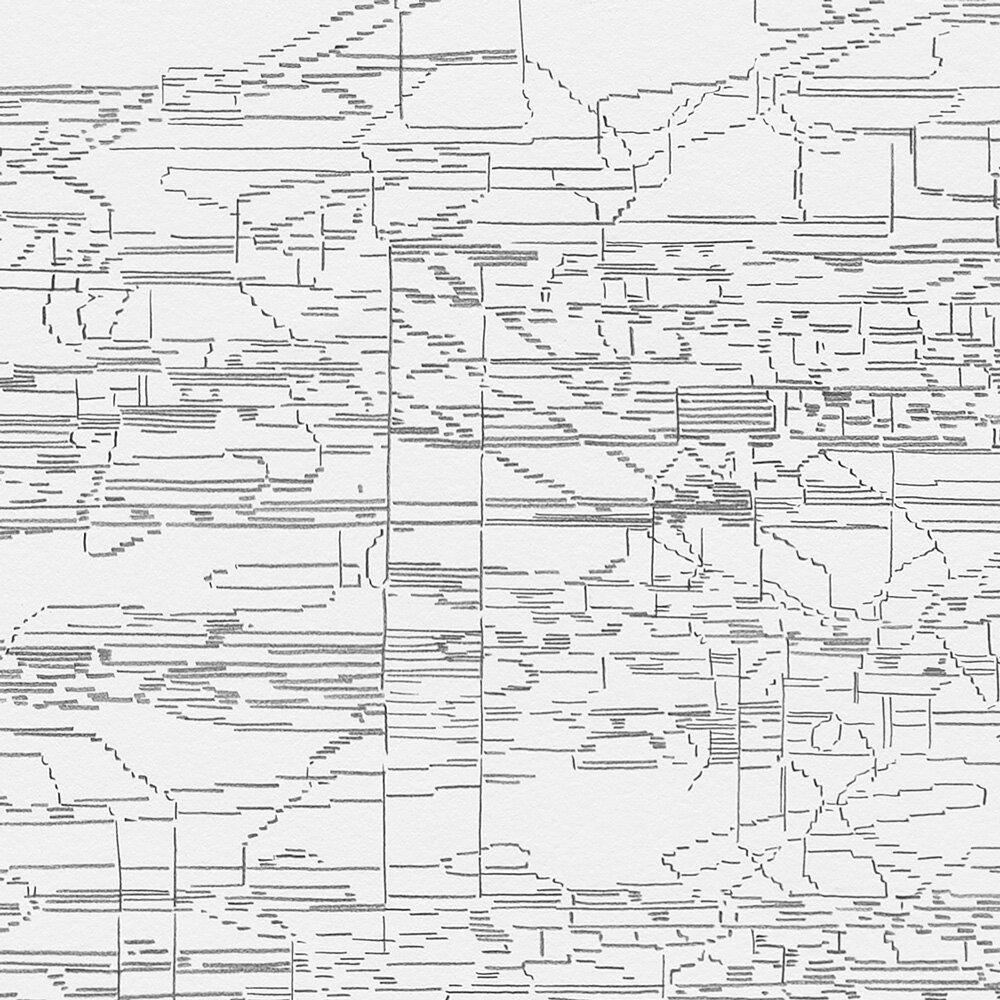Detail Image  Schematic: Variation: Bridge (white, black, pink) No. 2,  2019 Graphite on Rising Stonehenge paper Image size: 45.5 x 35.75 inches Paper size: 48 x 37.75 inches