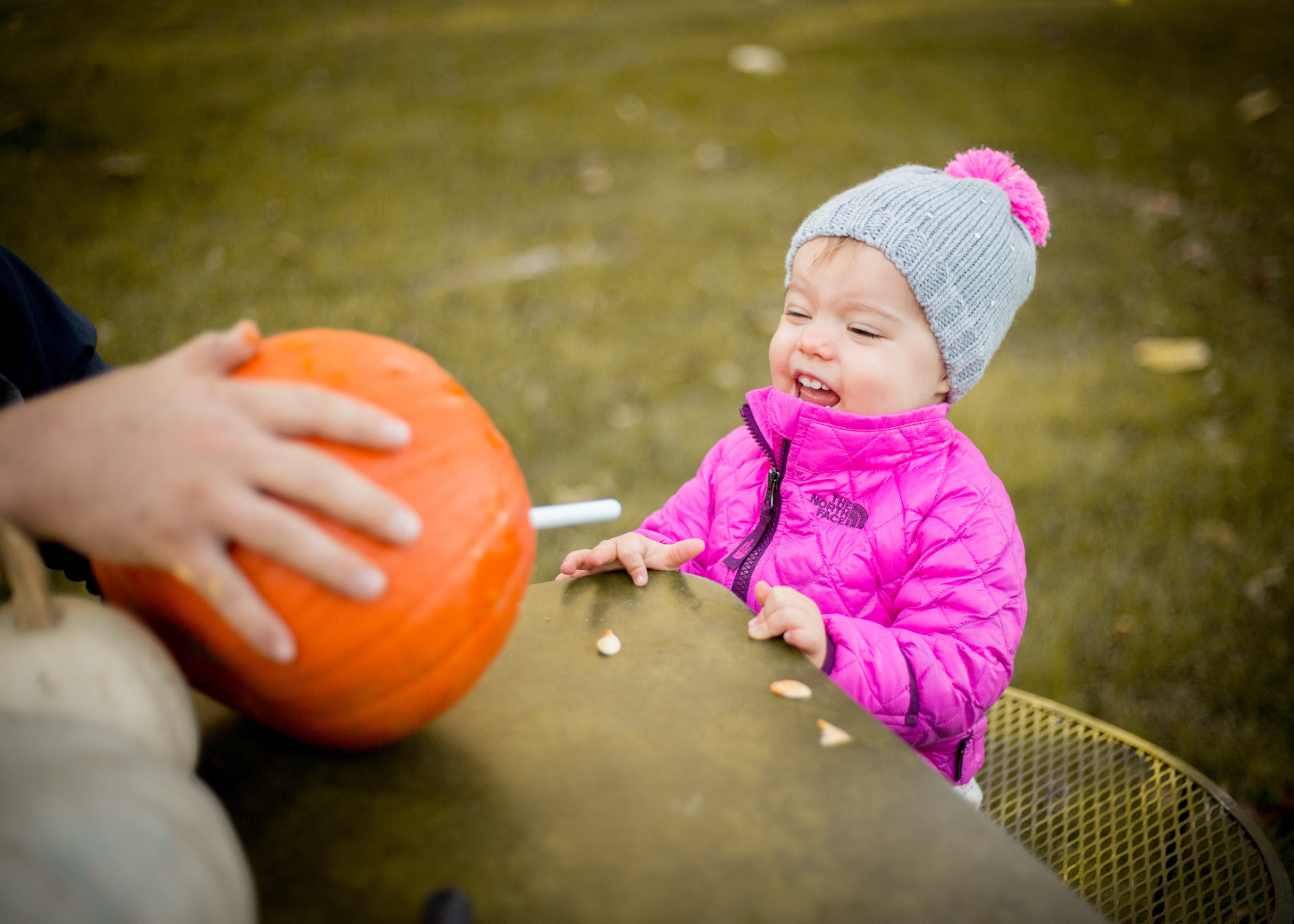 First time carving pumpkins? What a fantastic idea for a session!