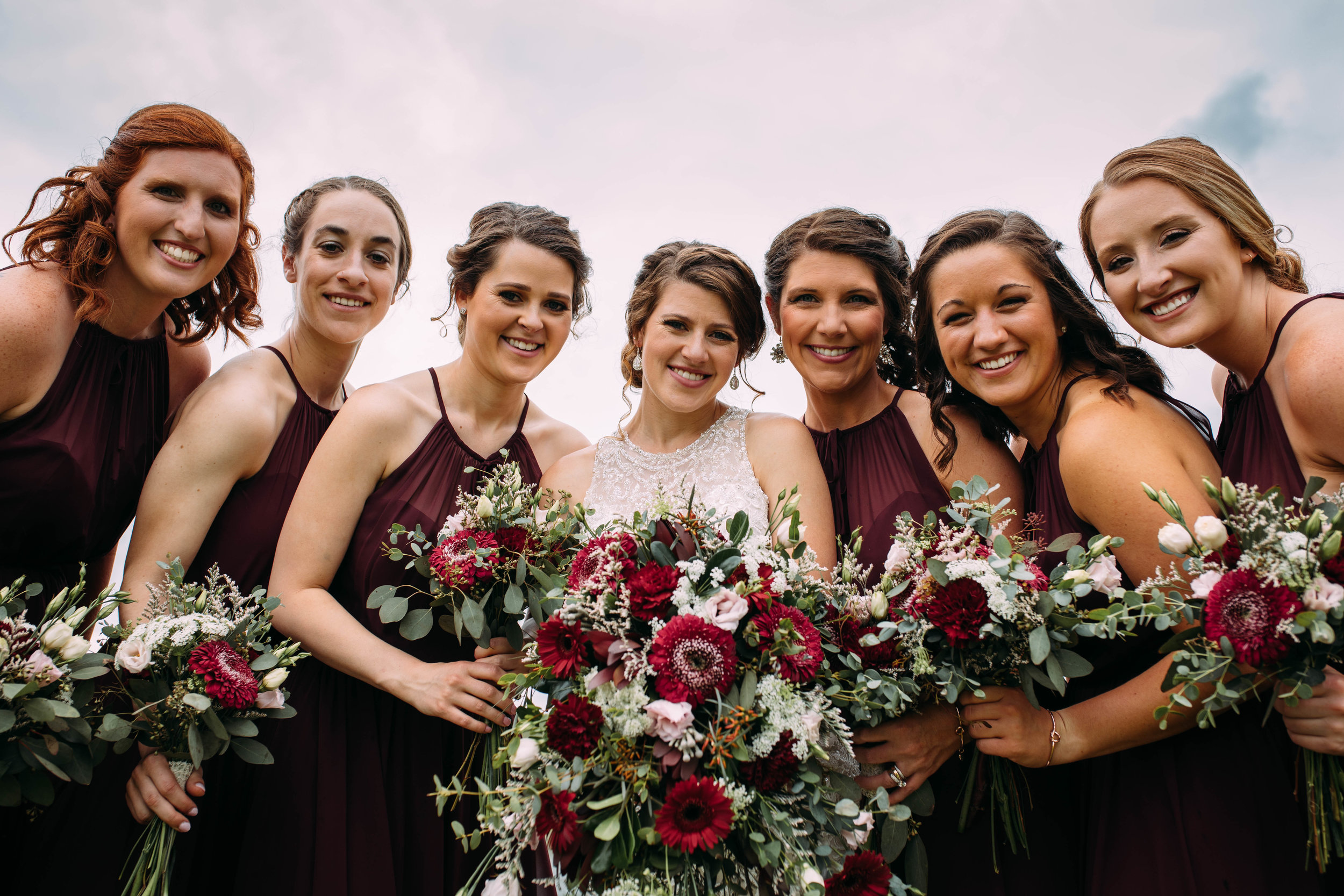 bridal party in south bend wedding