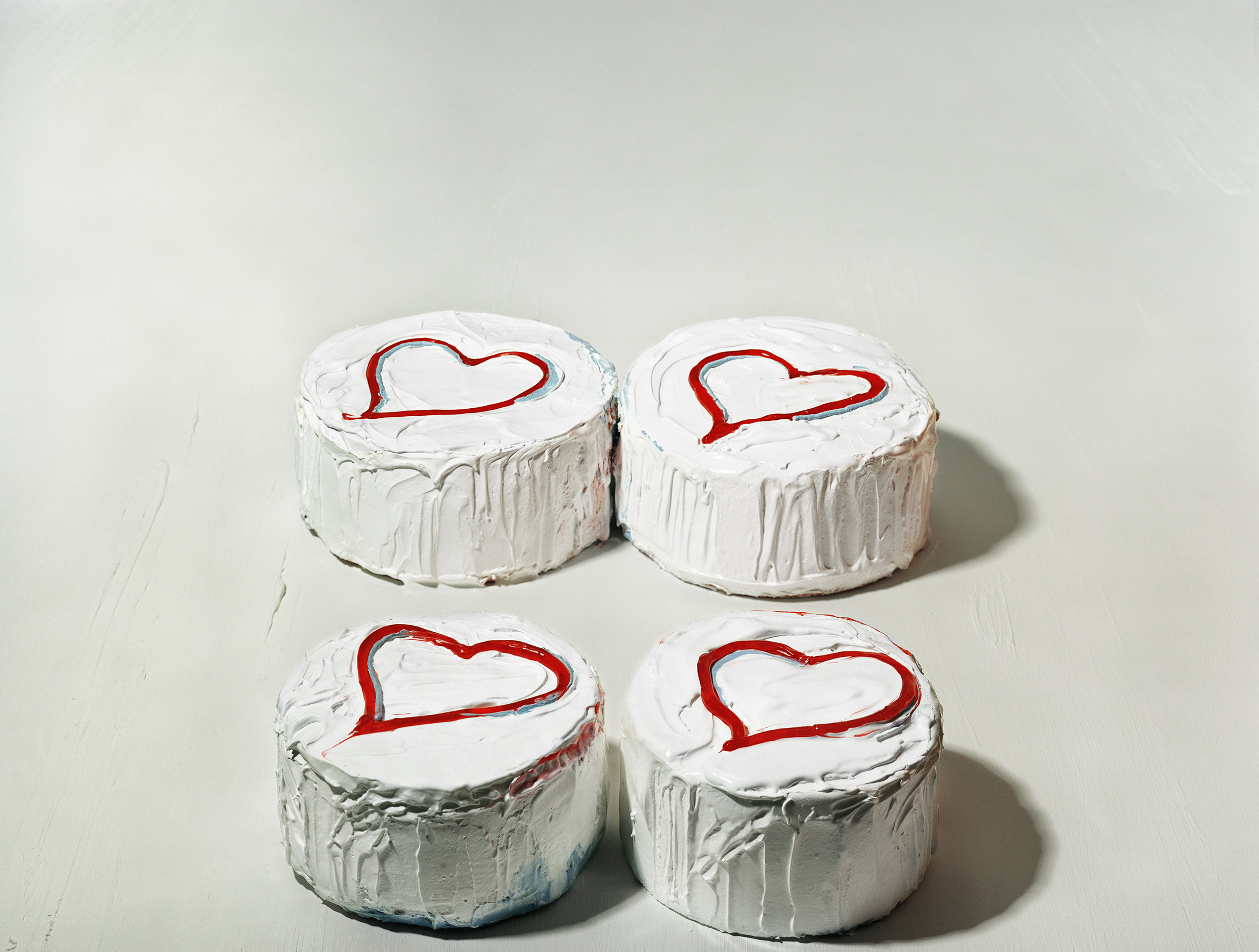Four Heart Cakes, © Sharon Core, 2005