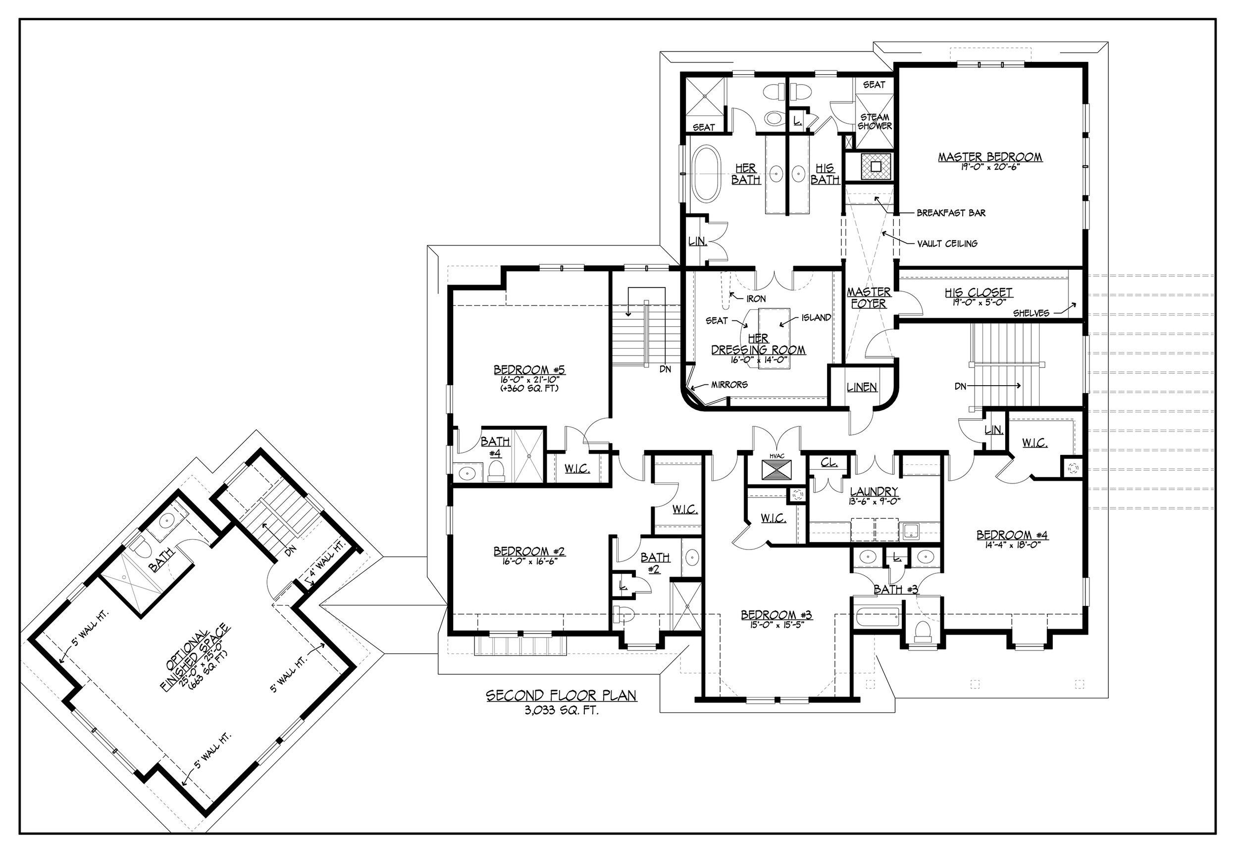 Floor Plans 2nd Floor