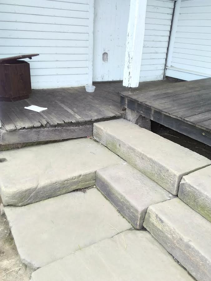 natural stone stairs from old farmhouses in wayne county ohio