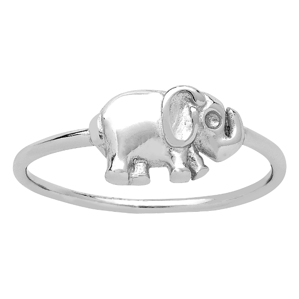 SILVER TONE ELEPHANT RING     Elephants are said to bring good luck, so make this your lucky ring!