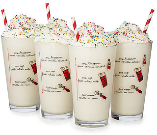 MILKSHAKE DIAGRAM GLASSES