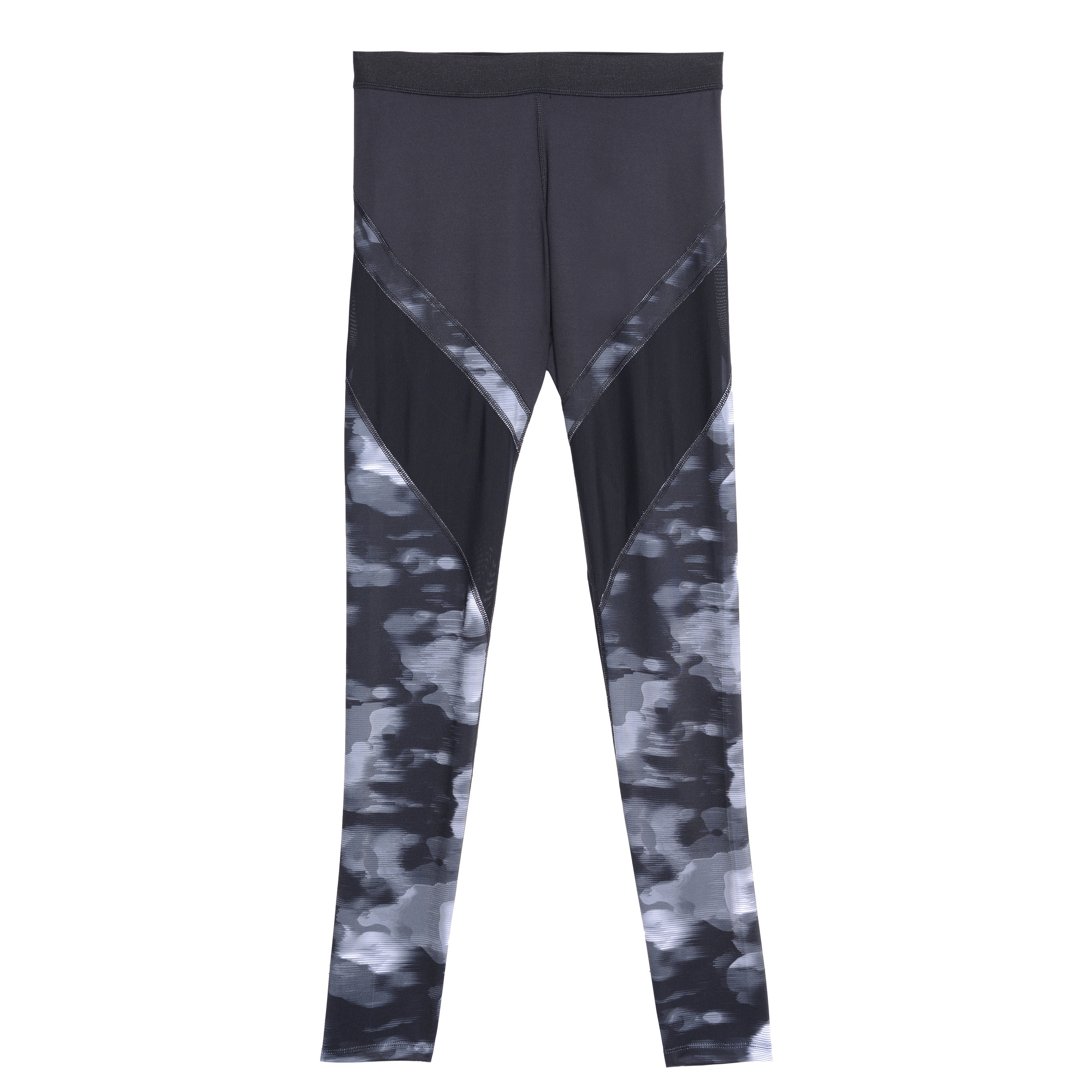 Legging with Printed Piecing in Ebony with Windy Camo Print.JPG