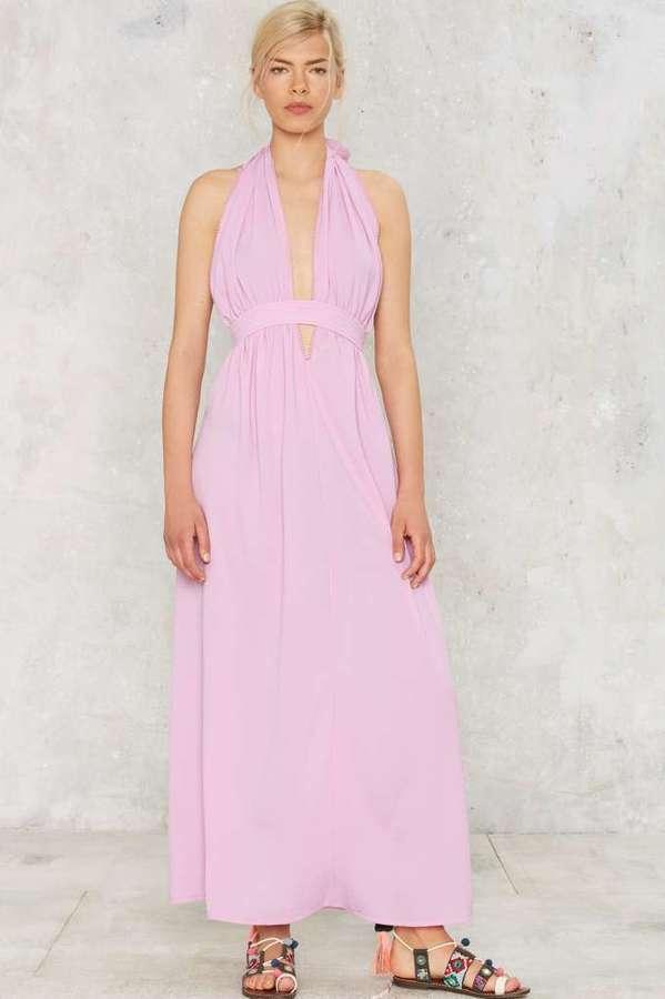 Nasty gal purple halter dress