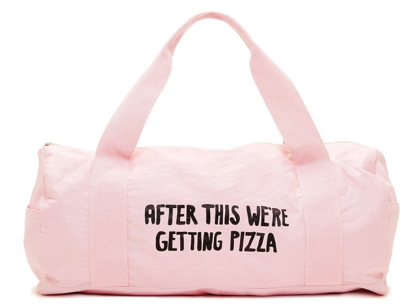 Hurray for honesty. Also this cute  gym bag by Ban.do .