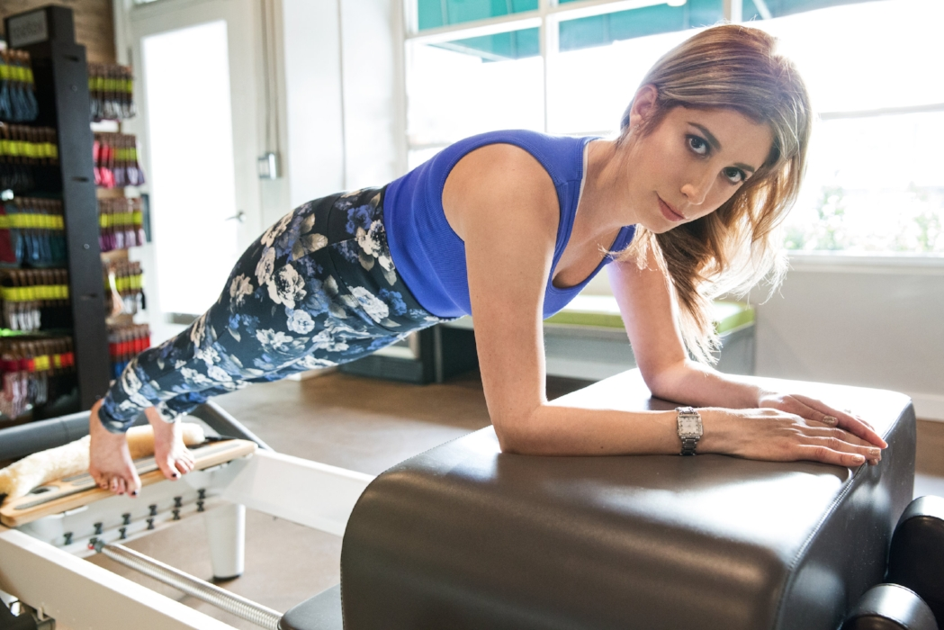 Photo by  Hayley Fisk . Makeup by  Kinx Active .Location  dr pilates Los Angeles.