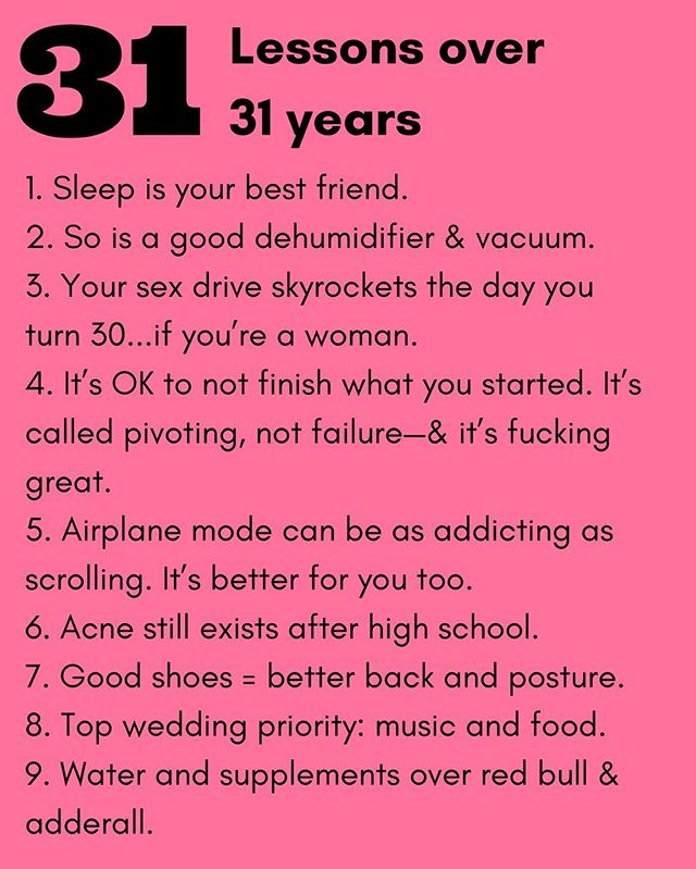 Hi, I'm 31. 🎉🙋🏽‍♀️ TBH, there are few things I love more than being in my 30s. In honor of the big day, I'm following my girl @lizmoody lead and sharing 31 lessons I've learned in my 31 years. Can I get an amen on some of these?!
