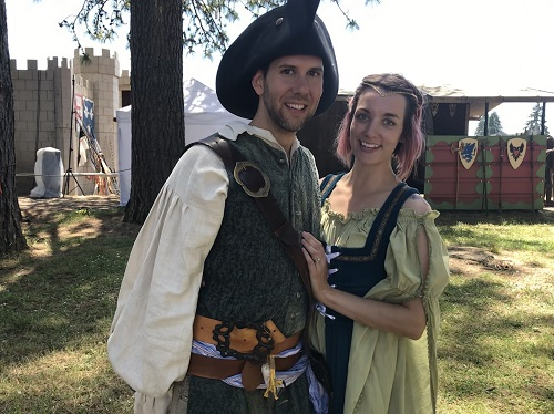 Here's a picture of us a few days later at the Renaissance Faire. Huzzah to new life!