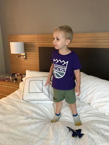 He was pretty eager to don his Kings shirt tho