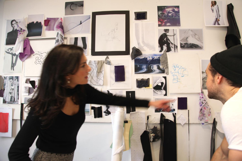 Visiting Jeffrey's design studio