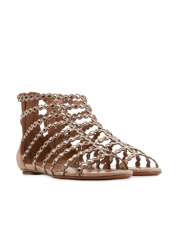 ALAÏA  Flat Mirrored Sandal