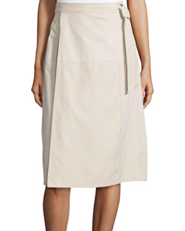 FRAME  Belted Suede Skirt