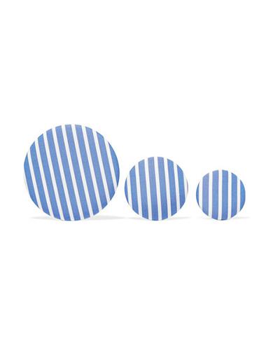 BALENCIAGA  Set of Three Striped Earrings