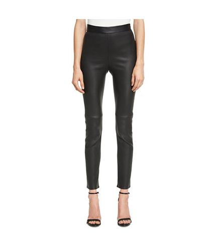 BRANDON MAXWELL  Leather Ciagarette Pants