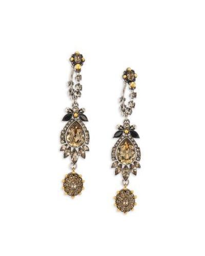 ALEXANDER McQUEEN  Crystal Drop Earrings