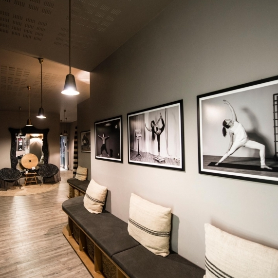 Find your inner peace at this modern yoga club, with a few locations around Paris