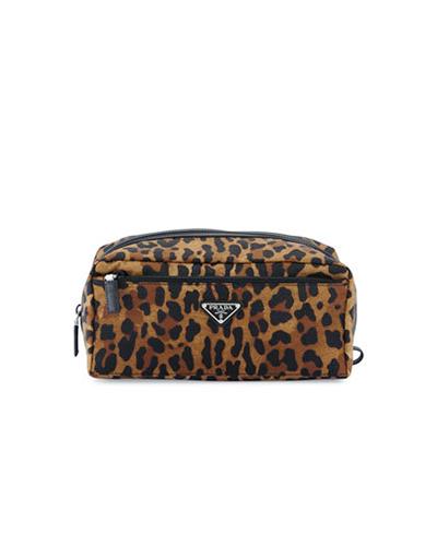 PRADA  Leopard Print Toiletry Kit