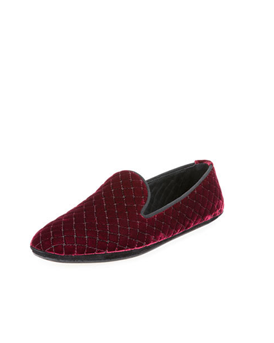 BOTTEGA VENETA  Quilted Velvet Smoking Slipper