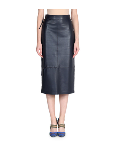 FENDI  Whipstitch Pencil Skirt