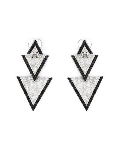ELISE DRAY  Triangle Drop Earrings