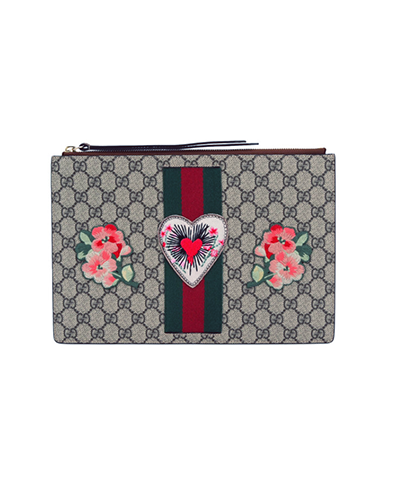 GUCCI  GG Embroidered Clutch Bag