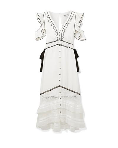 SELF PORTRAIT  Satin Midi-Dress