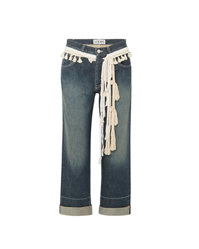 LOEWE  Rope-Trimmed Boyfriend Jeans