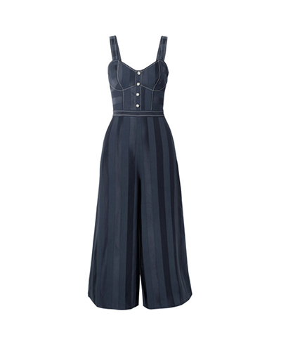 TEMPERLEY LONDON  Crepe and Satin Jumpsuit