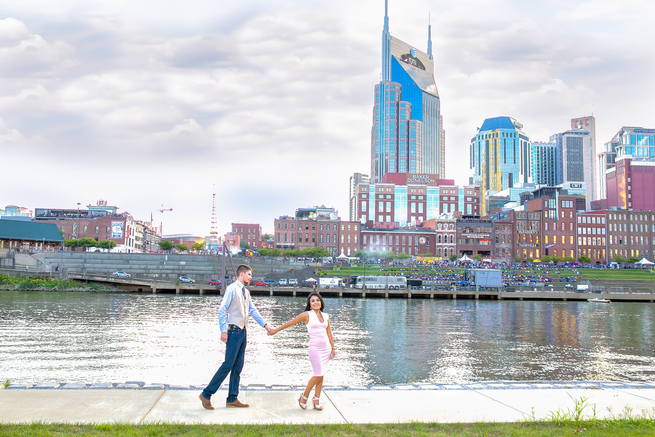 Sonia and Joseph, enjoying a beautiful Nashville skyline.